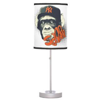 Old school swag monkey table lamp