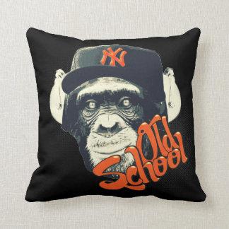 Old school swag monkey throw pillow