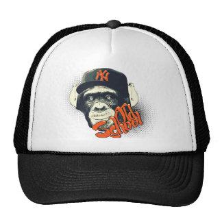 Old school swag monkey trucker hat