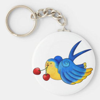 Old School Swallow with Cherry Key Chains