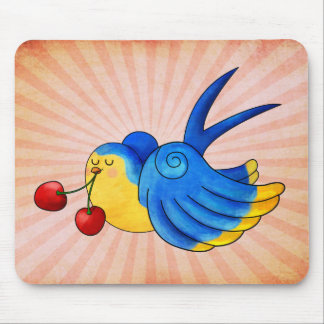 Old School Swallow with Cherry Mousepads