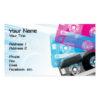 Old School Tapes and Boom box Profile Cards Double-Sided Standard Business Cards (Pack Of 100)