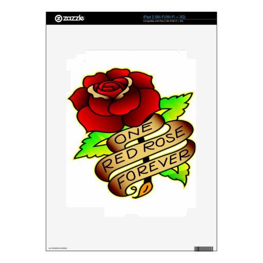 Old School Tattoo Rose Skin For iPad 2