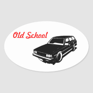 Old School Te72 Toyota Corolla Oval Sticker