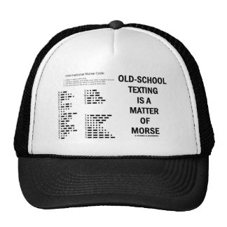 Old-School Texting Is A Matter Of Morse Mesh Hats
