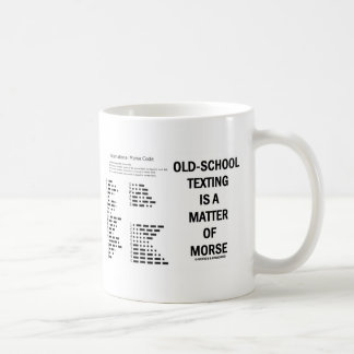 Old-School Texting Is A Matter Of Morse Coffee Mug
