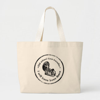 Old School time Traveller Large Tote Bag