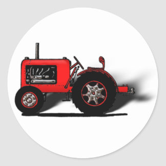 Old School Tractor Classic Round Sticker