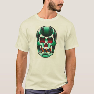 Old School Traditional Tattoo Candy Skull Flash T-Shirt