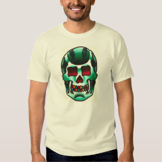 Old School Traditional Tattoo Candy Skull Flash T-shirts