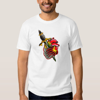 Old School Traditional Tattoo Heart and Dagger Shirt