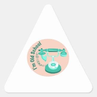 Old School Triangle Sticker