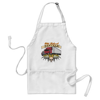 Old School Truck Driver Adult Apron