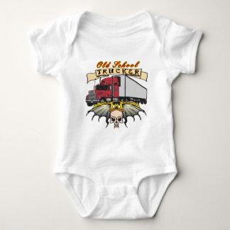Old School Truck Driver Baby Bodysuit