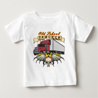 Old School Truck Driver Baby T-Shirt