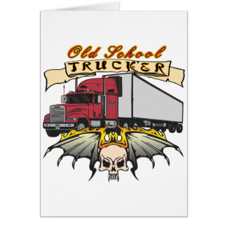 Old School Truck Driver Card