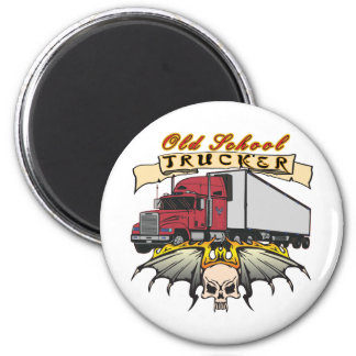 Old School Truck Driver Magnet