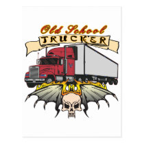 Old School Truck Driver Postcard