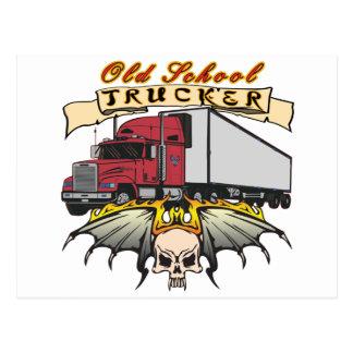 Old School Truck Driver Postcard