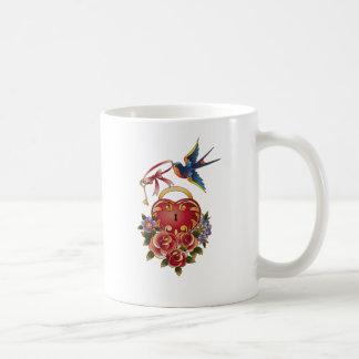 Old school True Love Lock and Key tattoo Coffee Mug