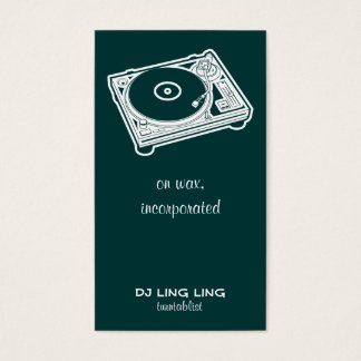 Old School Turntable Business Card