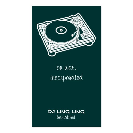 Old School Turntable Business Card Template