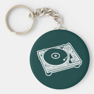 Old School Turntable Keychain