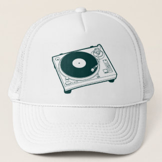 Old School Turntable Trucker Hat