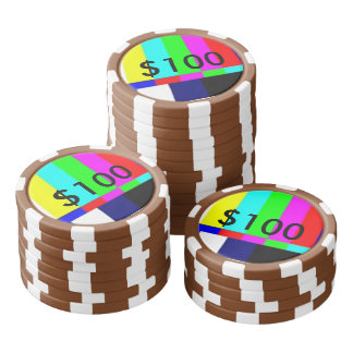 Old School TV Poker Playing chips $100