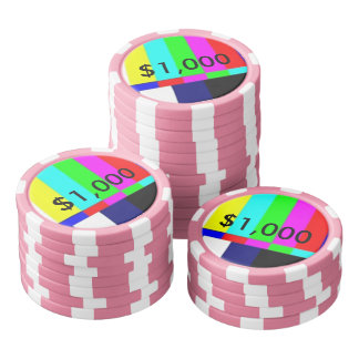Old School TV Poker Playing chips $1,000