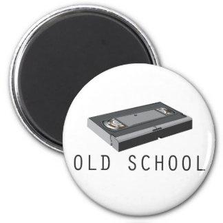Old School VHS 2 Inch Round Magnet