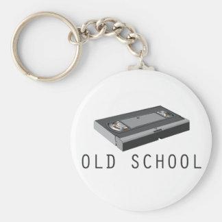 Old School VHS Basic Round Button Keychain