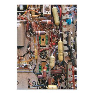 old school vintage circuit board with resistors card