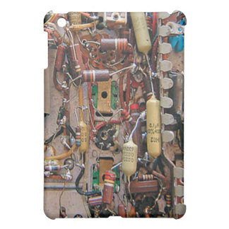 old school vintage circuit board with resistors case for the iPad mini