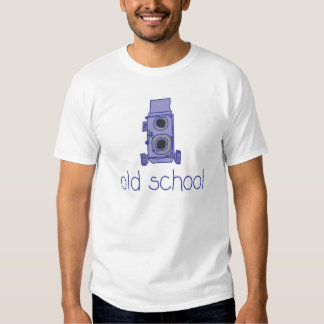 """Old School"" vintage twin lens camera t-shirt"