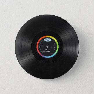 old school vinyl button