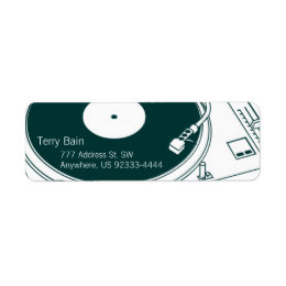 Old School Wax / Turntable Label