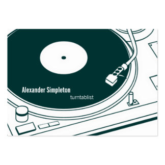 Old School Wax / Turntable Large Business Card