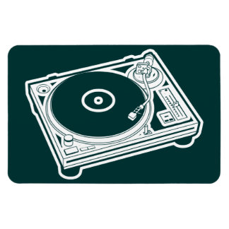 Old School Wax Turntable Rectangular Magnets