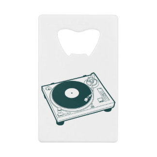 Old School Wax (Vinyl) Turntable Credit Card Bottle Opener