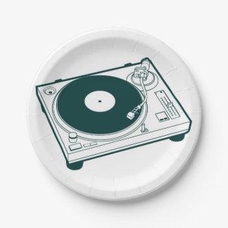 Old School Wax (Vinyl) Turntable Paper Plate
