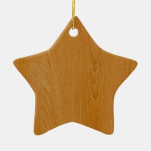 Old School Wood Paneling Double-Sided Star Ceramic Christmas Ornament