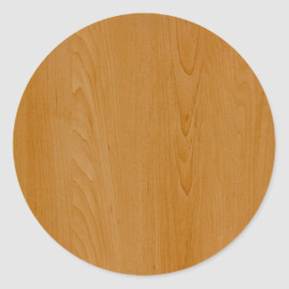 Old School Wood Paneling Classic Round Sticker