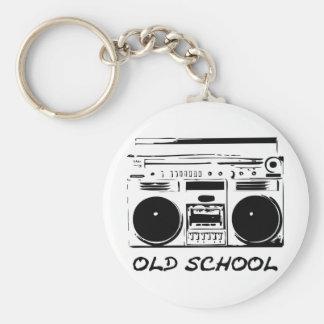 Old School zazzle Llavero Redondo Tipo Pin