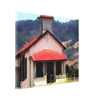 Old Schoolhouse Near San Simeon Canvas Print