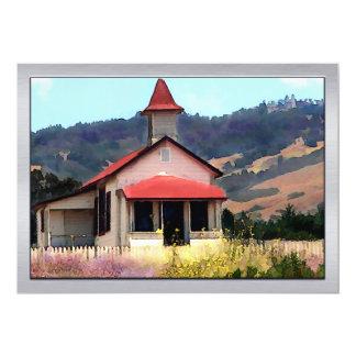 Old Schoolhouse Near San Simeon 5x7 Paper Invitation Card