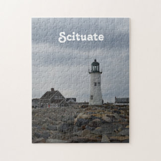 Old Scituate Lighthouse Jigsaw Puzzle