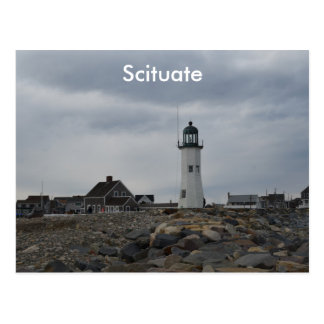 Old Scituate Lighthouse Postcard