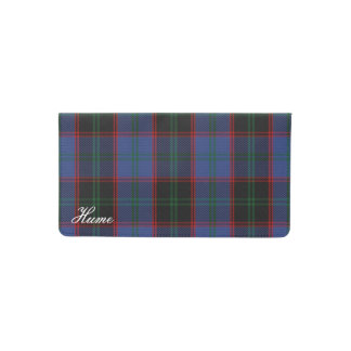 Old Scots Clan Home Hume Tartan Plaid Checkbook Cover