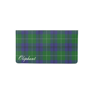 Old Scots Clan Oliphant Tartan Plaid Checkbook Cover